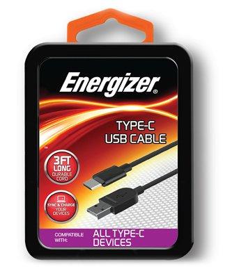 Energizer Premier Accessory Group ENG-MTC1 Type-C USB Sync Cable, 3-Ft. - Quantity 1