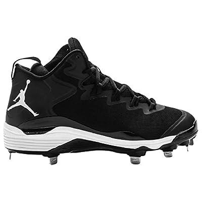 Jordan Super Fly 3 Metal Baseball Cleats Black White 684941-010 Men Size 11