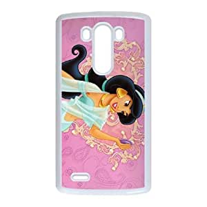 LG G3 Phone Case White Aladdin Princess Jasmine AU7266489