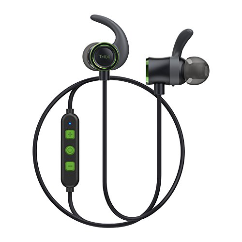 Tribit Wireless Bluetooth Earbuds - Running Headphones in Ear, Rock-Solid Bass, Up to 10 Hrs Playtime, IPX5 Waterproof, Built-in Mic, Magnetic - Workout Headphones, Forest Green