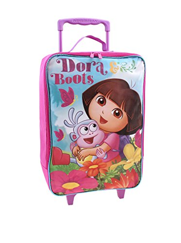 Nickelodeon Dora the Explorer Suitcase Rolling Luggage Large Pilot Case