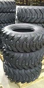 K9 Set Four (4) 12-16.5 Skid Steer Loader Tire, 12 PLY,
