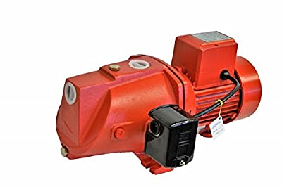 Hallmark Industries MA0345X-8 Shallow Well Jet Pump with Pressure Swith, Heavy Duty, 3/4 hp, 14 GPM, 115V/230V