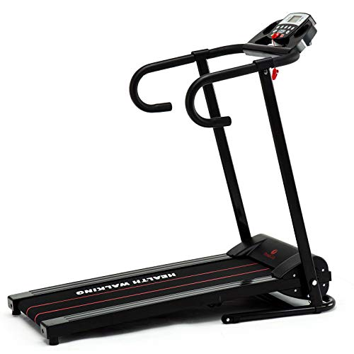 Heavens Tvcz Treadmill Running Machine Electric Motorized Fitness Gym Training Folding Fitness Gym Power Portable Exercise Support Jogging Home Incline Bottle Holder, Calorie Monitor, Electrically Pow
