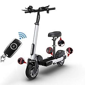 """41BKIKmI6tL. SS300 Monopattino Elettrico 500W,Batteria con Autonomia Fino a 90km,velocità Massima a 55km/h,10"""" Pneumatico per Vuoto,con Display LCD,Pieghevole Regolabile Scooter,per Adulti"""