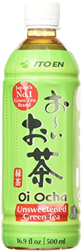 Ito En Oi Ocha Green Tea, Unsweetened, 16.9 Fluid Ounce (Pack of 12), Unsweetened, Zero Calories, with Antioxidants, Excellent Source of Vitamin C (Tea Green Vitamins)