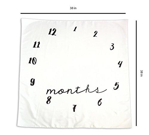 Amazon.com: Bebé Milestone manta | Perfecto para fotos ...