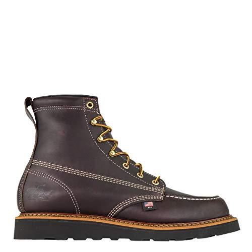 "Thorogood Men's American Heritage 6"" Moc Toe, MAXwear Wedge Non-Safety Toe Boot"
