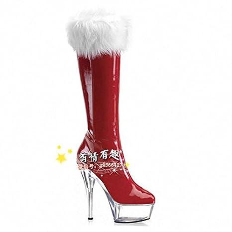 rivenditore all'ingrosso 14f96 e2e4f stivali alti stivali rossi sposa matrimonio scarpe,15 ...