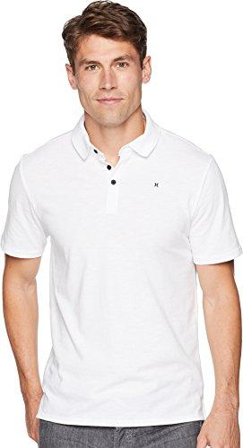 (Hurley Men's Nike Dri-Fit Short Sleeve Lagos Polo, White, S)