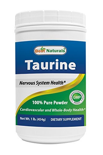 Best Naturals 100% Pure Taurine Powder free form – Taurine 1000mg per serving – 1 Lb (454 gm)