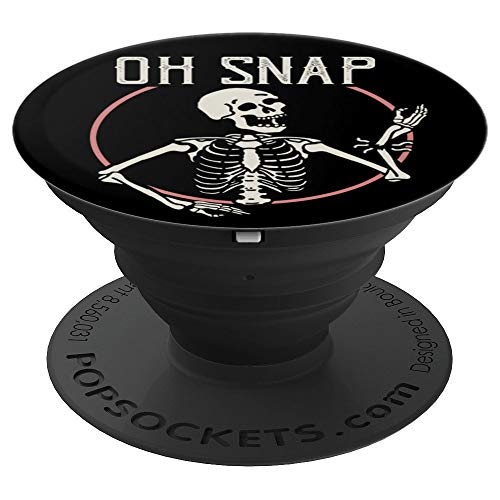 Halloween Skeleton Oh Snap Bone Break - PopSockets Grip and Stand for Phones and Tablets