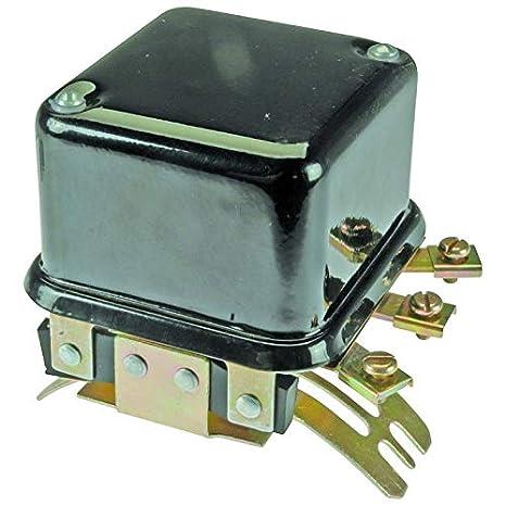 voltage regulator - 12 volt - 4 terminal - curved mount oliver 77 88 770  880 allis chalmers d15 wd45 cockshutt / co op minneapolis moline massey  ferguson