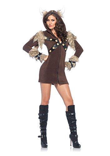 Women's Cozy Viking Costumes (1 PC. Ladies Cozy Viking Dress - Large - Brown)