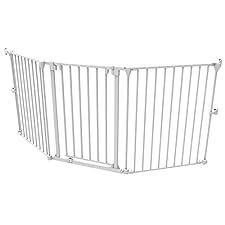 Baby Gate Play Yard Grey