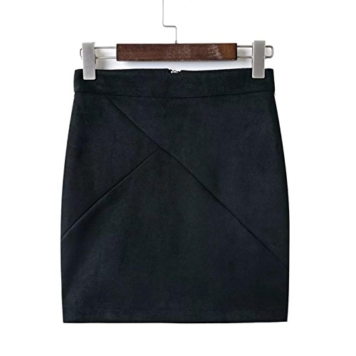 Amakuli High Waisted Women Pencil Skirt Faux Suede Tight Bodycon Sexy Mini Short Skirt (Zara Faux Leather Pencil Skirt)