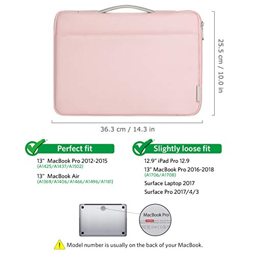 7c1249beed47 Inateck 13-13.3 Inch Laptop Case Sleeve Bag Compatible 13.3 Inch MacBook  Air(Including 2018 Version)/MacBook Pro Retina 2012-2015, 2018/2017/2016,  ...