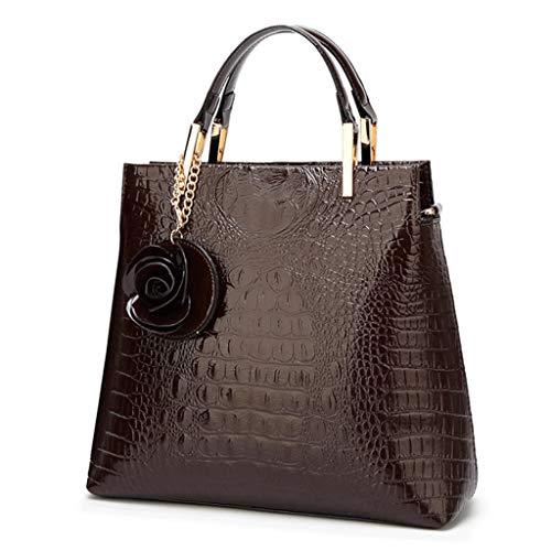 Bright PU Colore S Handbag Taglia Crossbody 1 Type Leather Bucket Bag 1 Ladies qwAT4TH