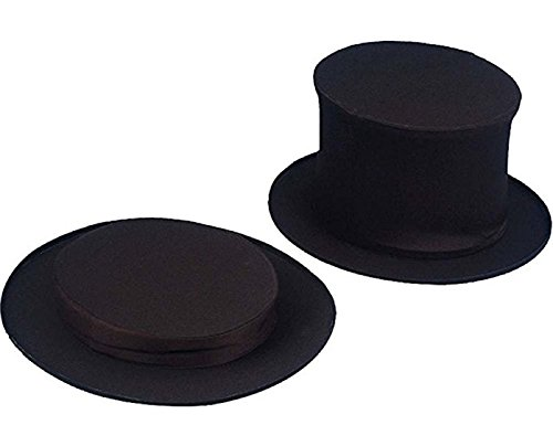 Collapsible Top Hat for Kids White -