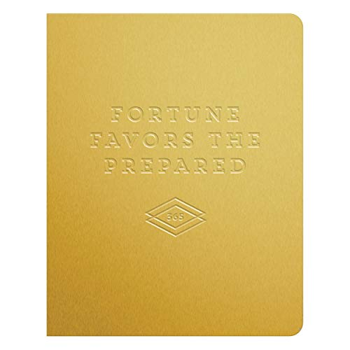Favor Deluxe - Fortune Favors the Prepared Gold Deluxe Pocket Undated Planner