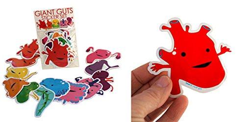 Giant Guts Sticker Pack of 15 I Heart