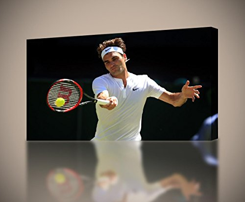 Roger Federer Tennis CANVAS PRINT Home Wall Decor Giclee Art Poster CA621, ()