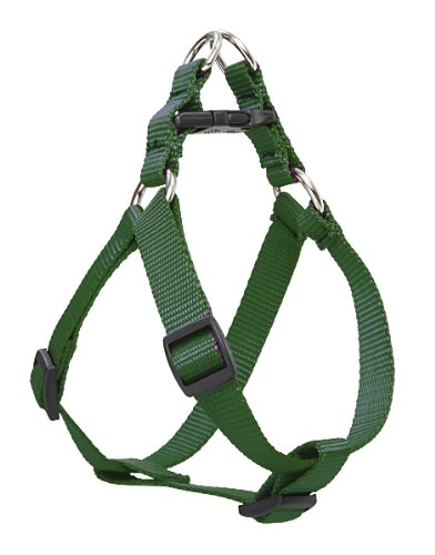 "LupinePet Basics 1"" Green 24-38"" Step In Harness for Large Dogs"