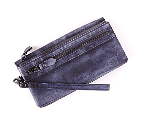 Men's Clip Money Purple Mens Long Soft Luxury Yaoko Business Cowhide Genuine Leather Purse Wallet fdqn7Z