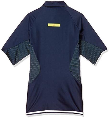 WARP KNIT スリーストライプス 半袖ボタンダウンシャツ メンズ GKI12