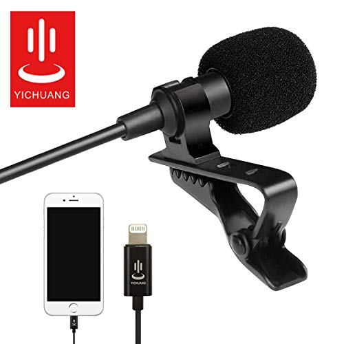 Microphone Professional for iPhone Grade Lavalier Lapel Omnidirectiona
