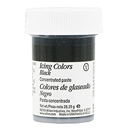 Amazon.com: Wilton Black Food Coloring Concentrated Paste 1 Ounce ...