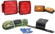PEAKTOW PTL0101 Deluxe 12V LED Submersible Trailer Light Kit