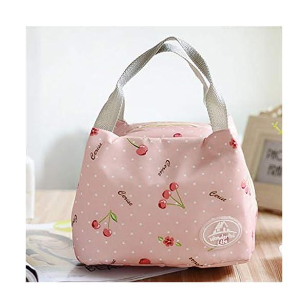 fablcrew Borsa a pranzo portatile borsa pasto Lunch Bag termica termico isolato per Ecole Ufficio Viaggio Picnic 5 spesavip