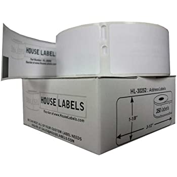 Houselabels Dymo-Compatible Address Labels with Removable Adhesive, 350 Labels per Roll (HL-30252-R)