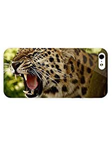 3d Full Wrap Case for iPhone 5/5s Animal Angry Leopard52 hjbrhga1544