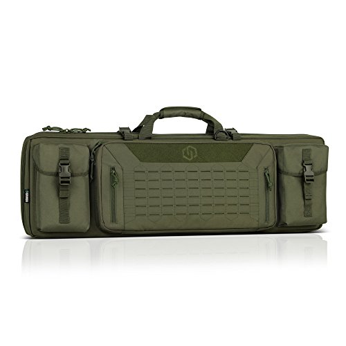 Savior Equipment Urban Warfare Tactical Double Carbine Long Rifle Bag Gun Case Firearm Backpack w/Pistol Handgun Case - 36 Inch Olive Drab Green
