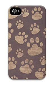 iphone 4 case custom cover Patterns Paws 3D Case for Apple iPhone 4/4S