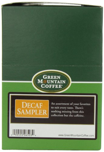 Green Mountain Coffee Decaf Sampler, K-Cup Carve up Pack for Keurig Brewers 22-Count