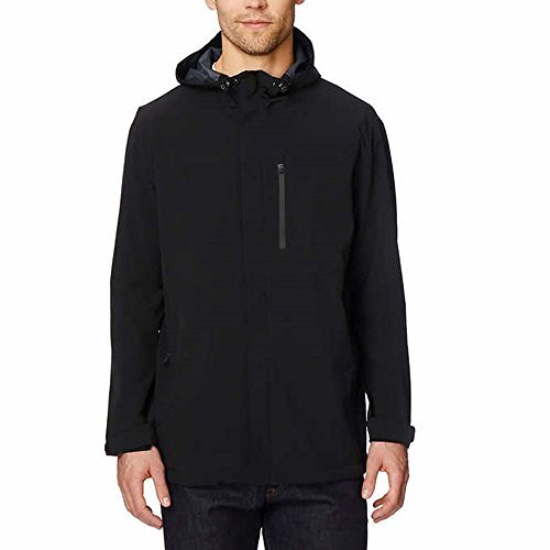 32 Degrees Heat Mens' Performance Rain Jacket - Black -