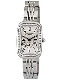 Longines Equestrian Stainless Steel & Diamond Womens Watch Silver Dial L6.141.0.71.6