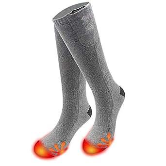 SODIAL Battery Heated Socks Men Women, Winter Rechargeable