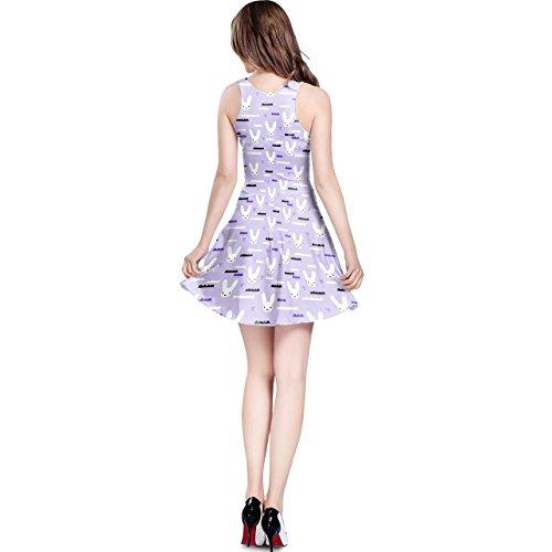 Sky Love Bunny Purple Sleeveless Dress XS-3XL Kleid
