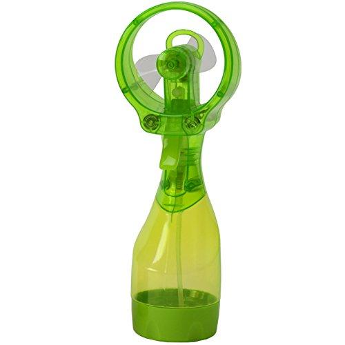 O2COOL Deluxe Misting Fan, Handheld Misting Fan, Battery Operated Fan, Water Spray Fan, Mini Portable Desk Fan, Personal Cooling Fan for Outdoor, Fine Mist Sprayer, Green