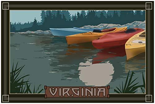 Virginia Kayaks in Moonlight Travel Art Print Poster by Mike Rangner (24