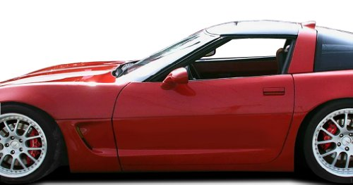 Duraflex Replacement for 1984-1996 Chevrolet Corvette C4 C5 Conversion Side Skirts Rocker Panels with Doorcaps - 6 Piece