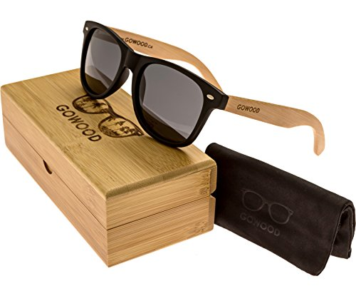 Wood Wayfarer Sunglasses Bamboo For Men & Women with Polarized - Gowood Sunglasses