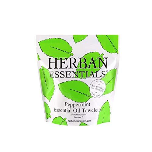 (Herban Essentials Mini Towelettes (Peppermint))