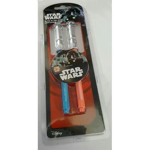 Star Wars Glow In The Dark Lightsaber Pen Set
