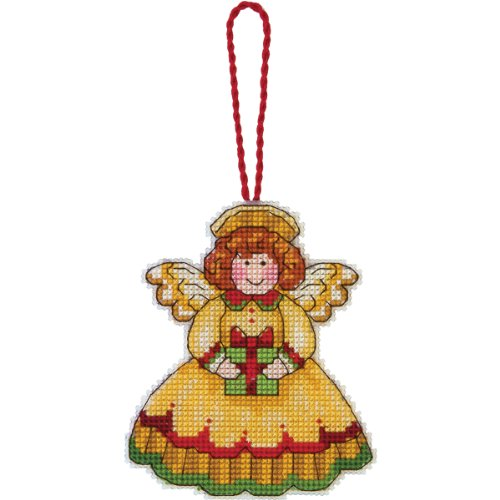 Ornaments Canvas Plastic (Dimensions Counted Cross Stitch, Angel Ornament)