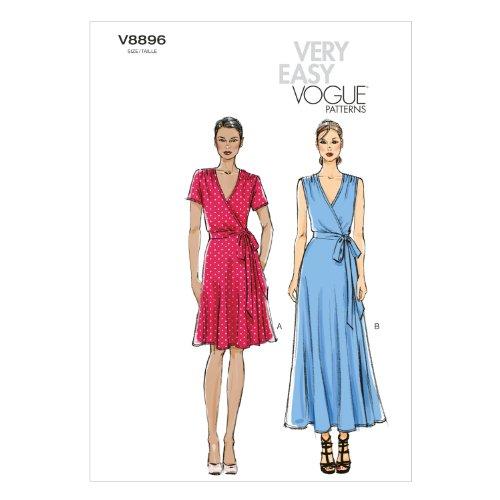 Vogue Patterns V8896 Misses' Dress Sewing Template, Size B5 (8-10-12-14-16)